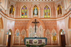 Catholic Church. The most beautiful Catholic church of Southeast Asia in Chuntaburi province Royalty Free Stock Image