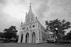 Catholic church named Pra Mae Bang Kerd at Amphawa, Thailand Royalty Free Stock Image