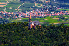 Catholic church near Bingen am Rhein and Royalty Free Stock Images