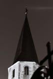 Catholic church night view, Andlau Royalty Free Stock Image