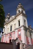 Catholic Church Of St. Raphael In Vilnius Stock Photos