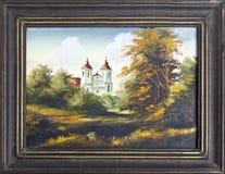 Catholic church oil painting Stock Photography