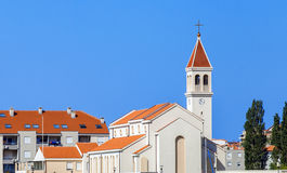 Catholic church in Omis town Stock Image