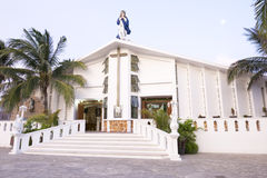 Free Catholic Church On Isla Mujeres Stock Images - 58147114