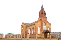 The Catholic Church in the Outback of Russia. royalty free stock photography