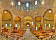 Catholic church panoramic view. Alba, Italy. Stock Photos