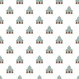 Catholic church pattern seamless vector royalty free illustration
