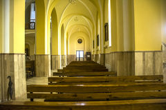 Catholic church. Peace and light in the indoor chatolic church Stock Image
