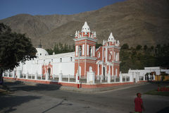 Catholic Church in Peru. With mountains in the background Stock Images