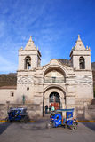 Catholic church at Plaza de Armas in Chivay, Peru Royalty Free Stock Photo