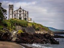 Catholic church in Ponta Delgada Royalty Free Stock Photos