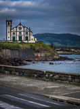 Catholic church in Ponta Delgada royalty free stock images