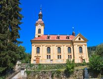 Catholic Church in Portschach. Austria Royalty Free Stock Image