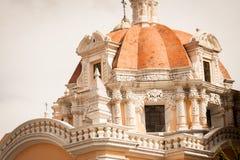 Catholic Church at puebla, mexico Royalty Free Stock Image