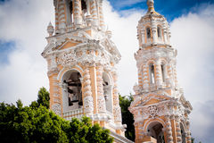 Catholic Church at puebla, mexico Royalty Free Stock Photography