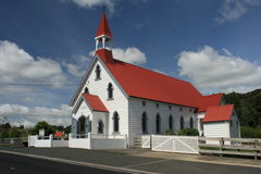 Catholic church in Puhoi, New Zealand Stock Image