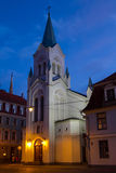 Catholic Church. In Riga Old town, Latvia Stock Photos