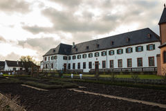 Catholic church on the river #4. Seligenstadt Stock Photography