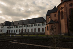 Catholic church on the river #5. Seligenstadt Royalty Free Stock Images