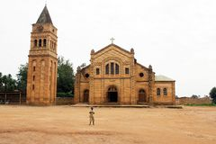 Catholic church in Rwanda Royalty Free Stock Photo