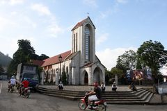 Catholic church, Sa Pa, Vietnam Stock Photography