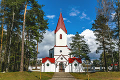 The Catholic Church. Church of the sacred Heart of Jesus Christ in Novopolotsk Belarus. The Catholic Church was built in 2004. Religious buildings of Belarus stock image