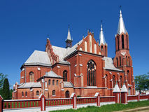 The Catholic church. Church of the Sacred Heart Roman Catholic community Stock Image
