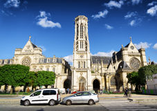Catholic church of Saint Germain of Auxerre in Paris, France. Royalty Free Stock Photos