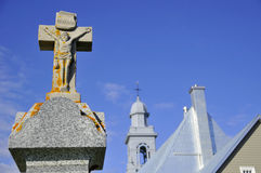 Catholic church, Sainte-Luce-sur-Mer Royalty Free Stock Image