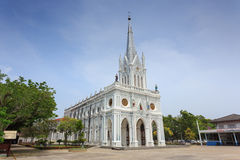 Catholic Church at Samut Songkhram Stock Image