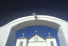 Catholic Church in San Miguel New Mexico Stock Images