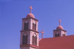 Catholic Church in San Miguel New Mexico Royalty Free Stock Images