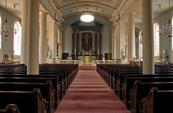 Catholic church sanctuary Royalty Free Stock Image