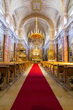Catholic church in Sibiu interior view Stock Image