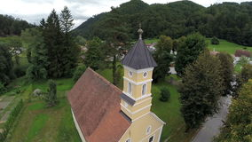 Catholic church in the small country village stock video footage