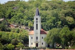 A Catholic church. In a small village Stock Photos