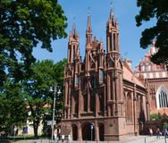 Catholic church of St. Anne's and Church  Bernardine. Vilnius Stock Image