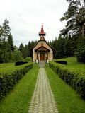 The Catholic Church of St. Helena Poprad Slovakia. Stock Images
