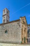 Church of St. Ivan, Sibenik, Croatia. Catholic church of St. Ivan with clock tower, Sibenik, Croatia royalty free stock photo