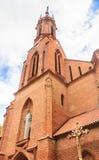 Catholic church of St. Mary of the Scapular. Druskininkai Stock Photography