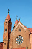 Catholic church of St.Simon and St.Helena in Minsk Stock Photography