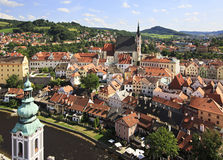Catholic church of St. Vitus (Cesky Krumlov) Royalty Free Stock Images