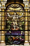 Catholic Church Stained Windows Stock Photos