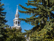 Catholic Church steeple of Montreal Stock Photography