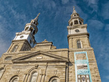 Catholic Church steeple of Montreal Stock Photo