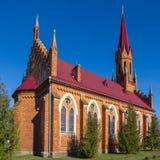 Catholic Church in Stolovichi, Belarus. Stock Photo
