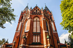 Catholic Church of Sts. Anna located in the Old Town near Pisa Warminska river in Barczewo, Olsztyn Stock Photography