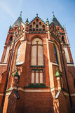 Catholic Church of Sts. Anna located in the Old Town near Pisa Warminska river in Barczewo, Olsztyn Royalty Free Stock Images