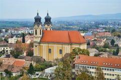 The catholic church in Tata, Hungary. Royalty Free Stock Photos