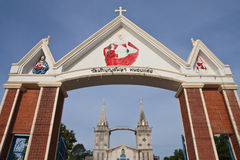 Catholic church in Thailand Royalty Free Stock Photography